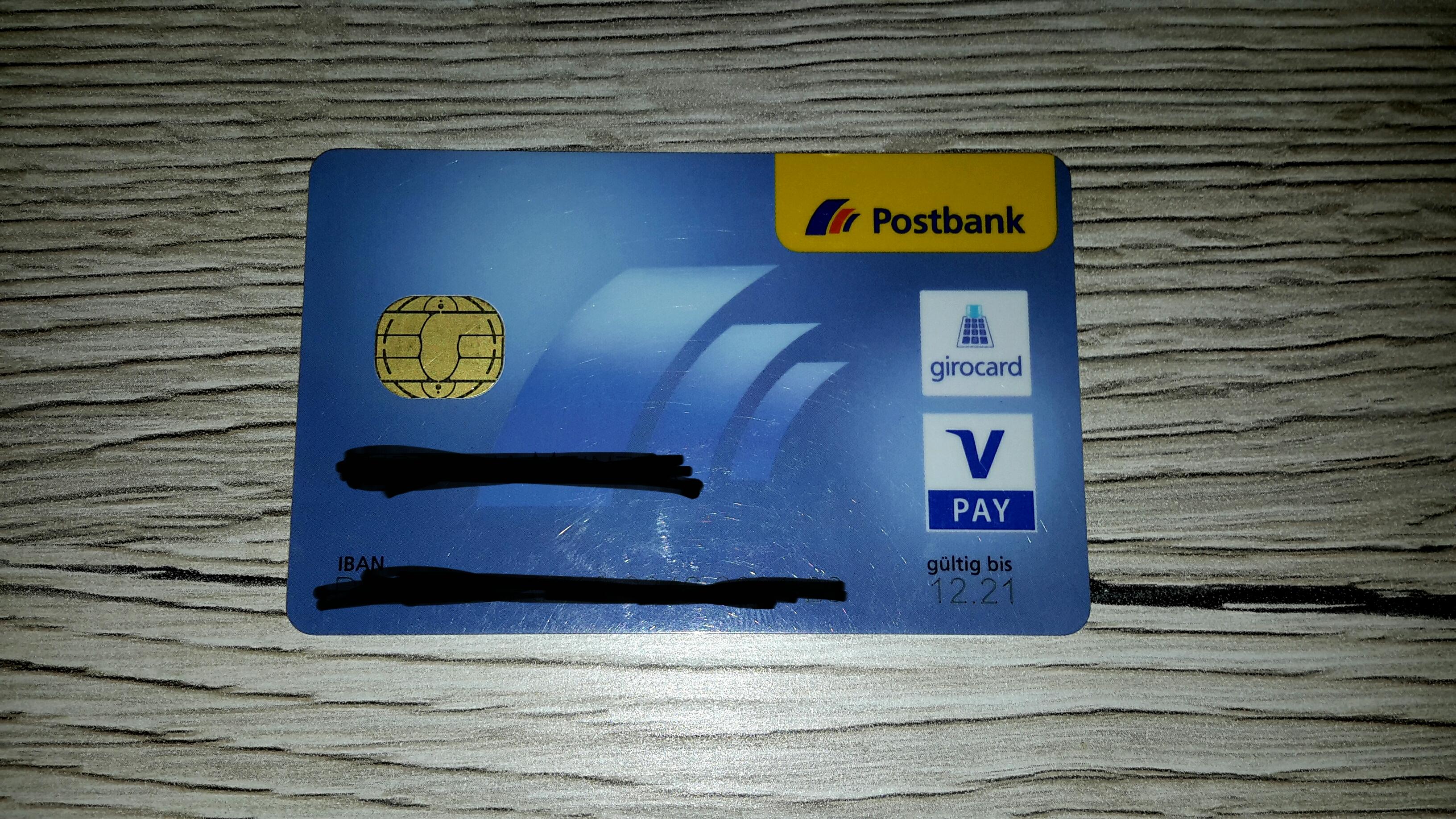 Karte Sperren Postbank.Kann Ich Mit Dieser Postbankkarte Mein Alter Am
