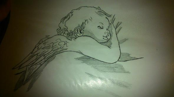 Mein Bild - Engel - (Kunst, zeichnen)