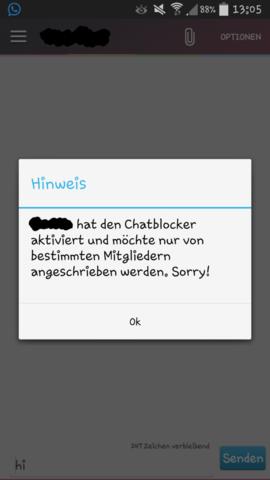 kann in Lovoo (Singlebörse) nicht schreiben (Freizeit, App)