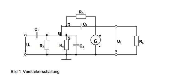 Verstärkerschaltung - (Elektrotechnik, Wechselspannung, fet)