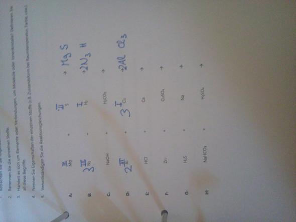 - (Chemie, Oberstufe, reaktionsgleichungen)
