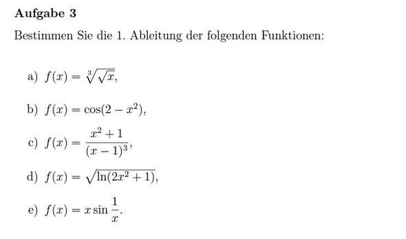 Aufgabe 3 - (Mathe, Aufgabe)