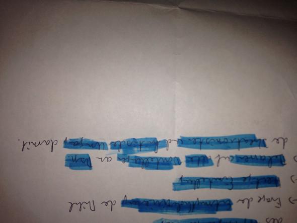 Dort wo steht: Beharren auf alte Vorstellungen an... - (Schule, Hausaufgaben, Schrift)