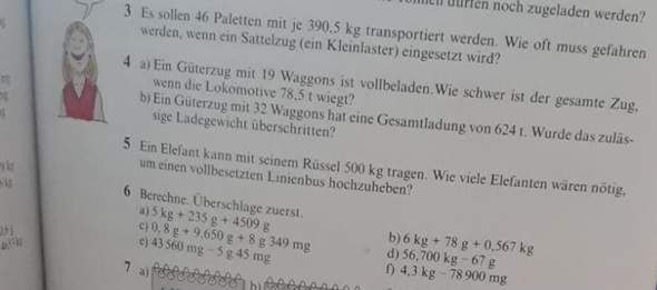Kann jemand für mich Nummer 3-5 lösen?