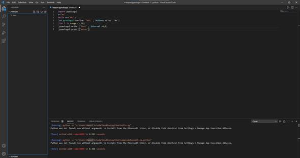 kann jemand helfen bei einem python projekt (visual studio code)?