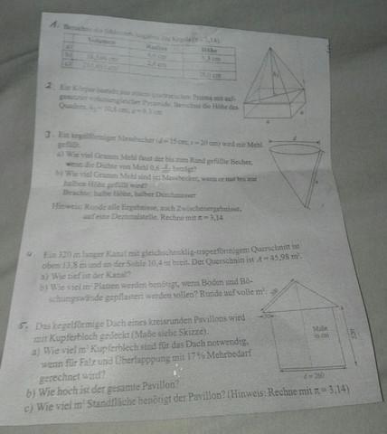 Hier sind die Aufgaben - (Schule, Mathe, Mathematik)