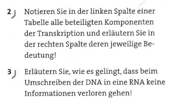 Kann jemand mir das erklären ?Bio? Transkription?