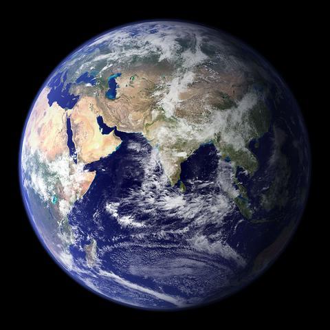östlicher Halbkugel - (Bilder, Erde, Weltraum)