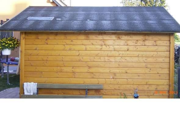kann man bei diesem gartenhaus nachtr glich noch dachrinnen anbringen garten wasser hausbau. Black Bedroom Furniture Sets. Home Design Ideas