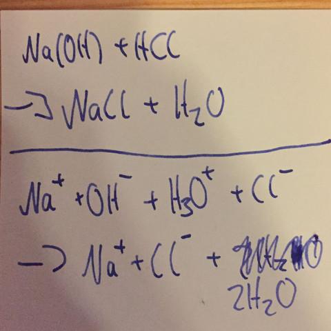 Das mein ich - (Chemie, Base, Reaktion)