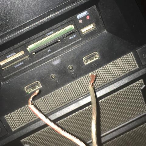 Das Kabel und der PC - (Computer, PC, Technik)