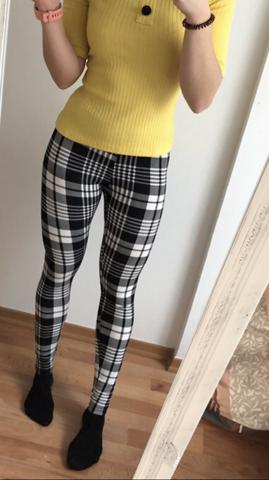 Kann man das so kombinieren oder ist das gelb zu heftig zum Karo der Hose?