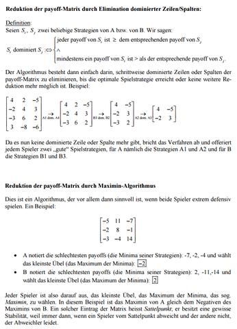 Beide Algorithmen - (Mathematik, Algebra, Spieltheorie)