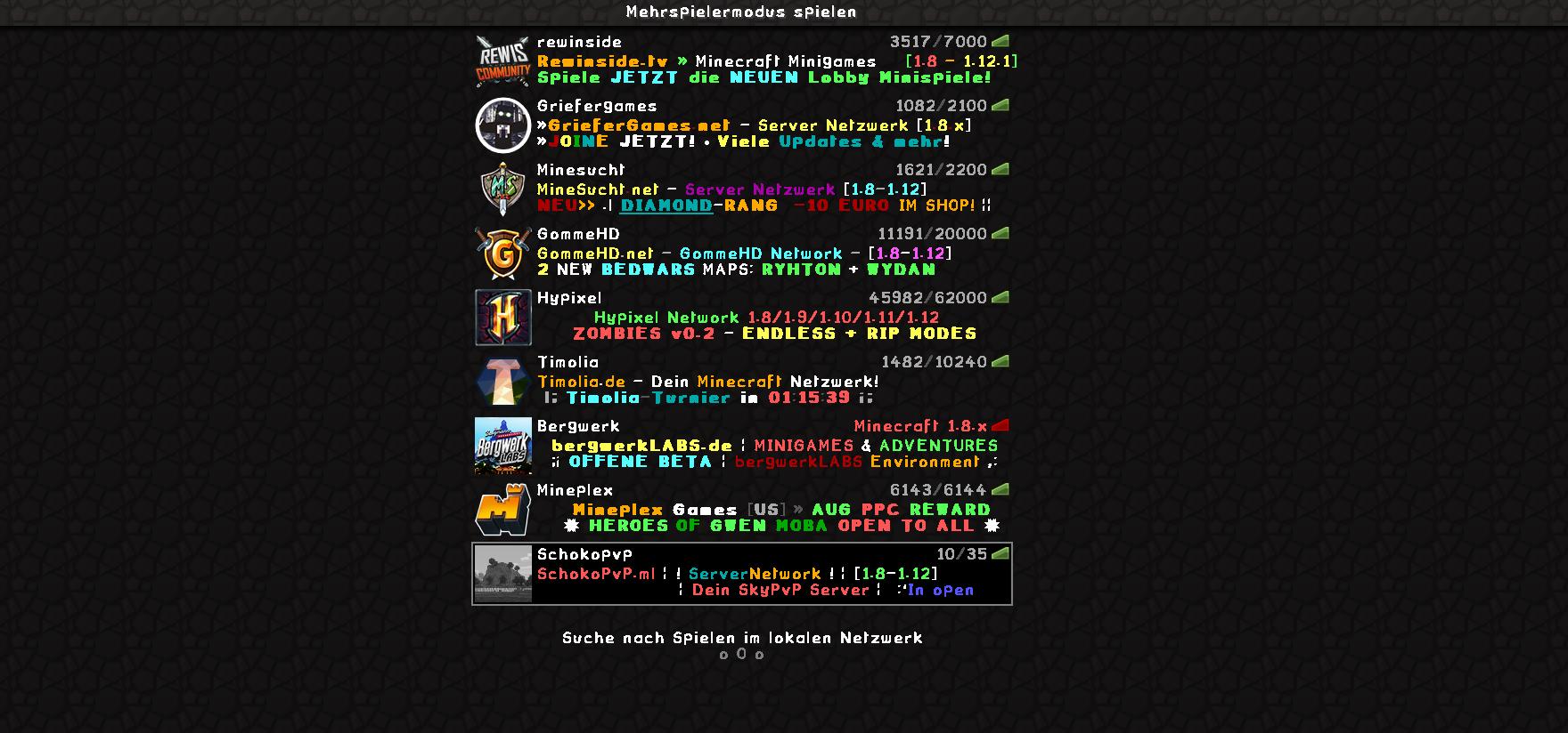 Kann Man Die Server In Der Minecraft Server Liste Farbig Schreiben - Minecraft server erstellen gute frage