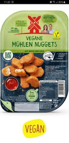 Kann man die veganen Chicken nuggets von der rügenwalder mühle im Ofen machen?