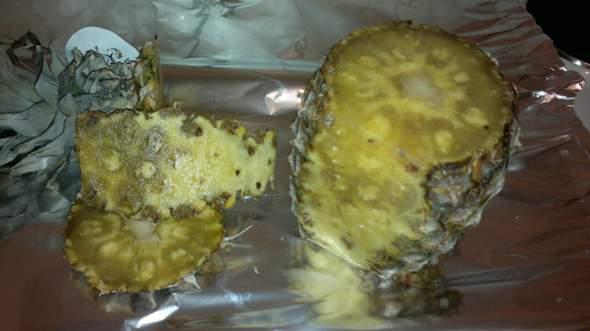 Kann man diese Ananas noch essen?