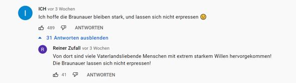 kann man diese Person anzeigen (Youtube Nazi)?