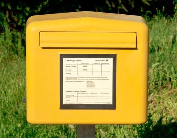 Kann man diese Warensendung einfach so in den Briefkasten werfen?
