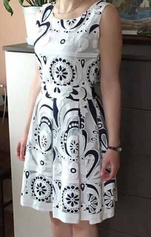 ist weiß mit dunkel blau - (Mode, Hochzeit)