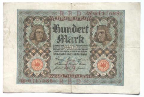 zB 100 Reichsmark - (Geld, Umtausch, Reichsmark)
