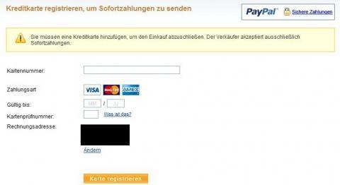 Warum Will Paypal Eine Kreditkarte