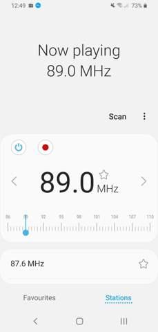 Kann man im Autokino auch den Radio-Empfänger des Handys benutzen?