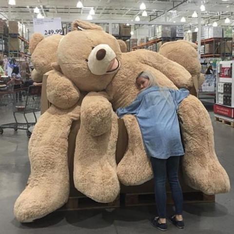 kann man in amerika vor dem valentinstag diese riesen teddyb ren kaufen zb im walmart oder so. Black Bedroom Furniture Sets. Home Design Ideas