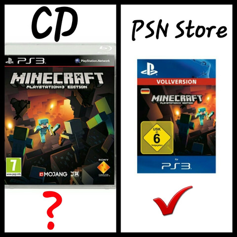 Kann Man Minecraft PS Auch Auf Der CD Aktualisieren Computer - Minecraft spiele ps3