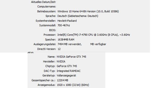 Mein PC - (Computerspiele, Profi, GTX 745)