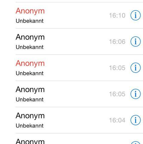 wie kann man anonym anrufen