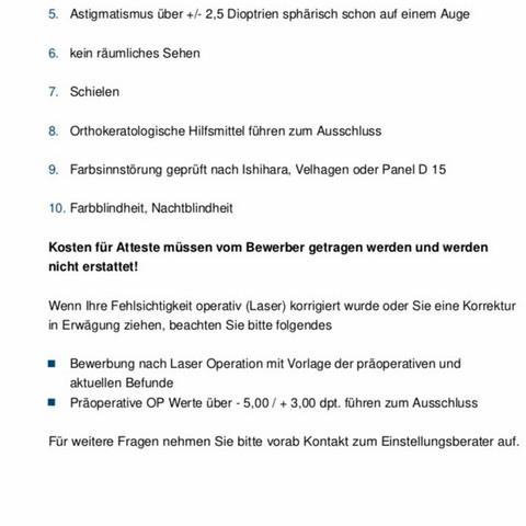 Info zur Sehrstärke - (Ausbildung, Polizei, bewerben)
