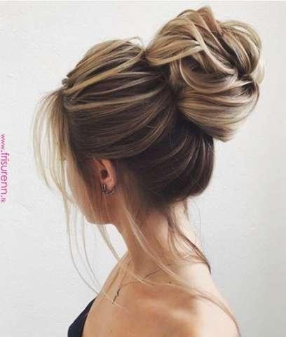 Kann man sich mit mittellangen Haaren so einen Dutt machen, siehe Bild?