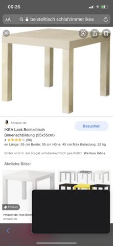 Kann man solche Tische auch als Tisch neben dem Bett stellen?
