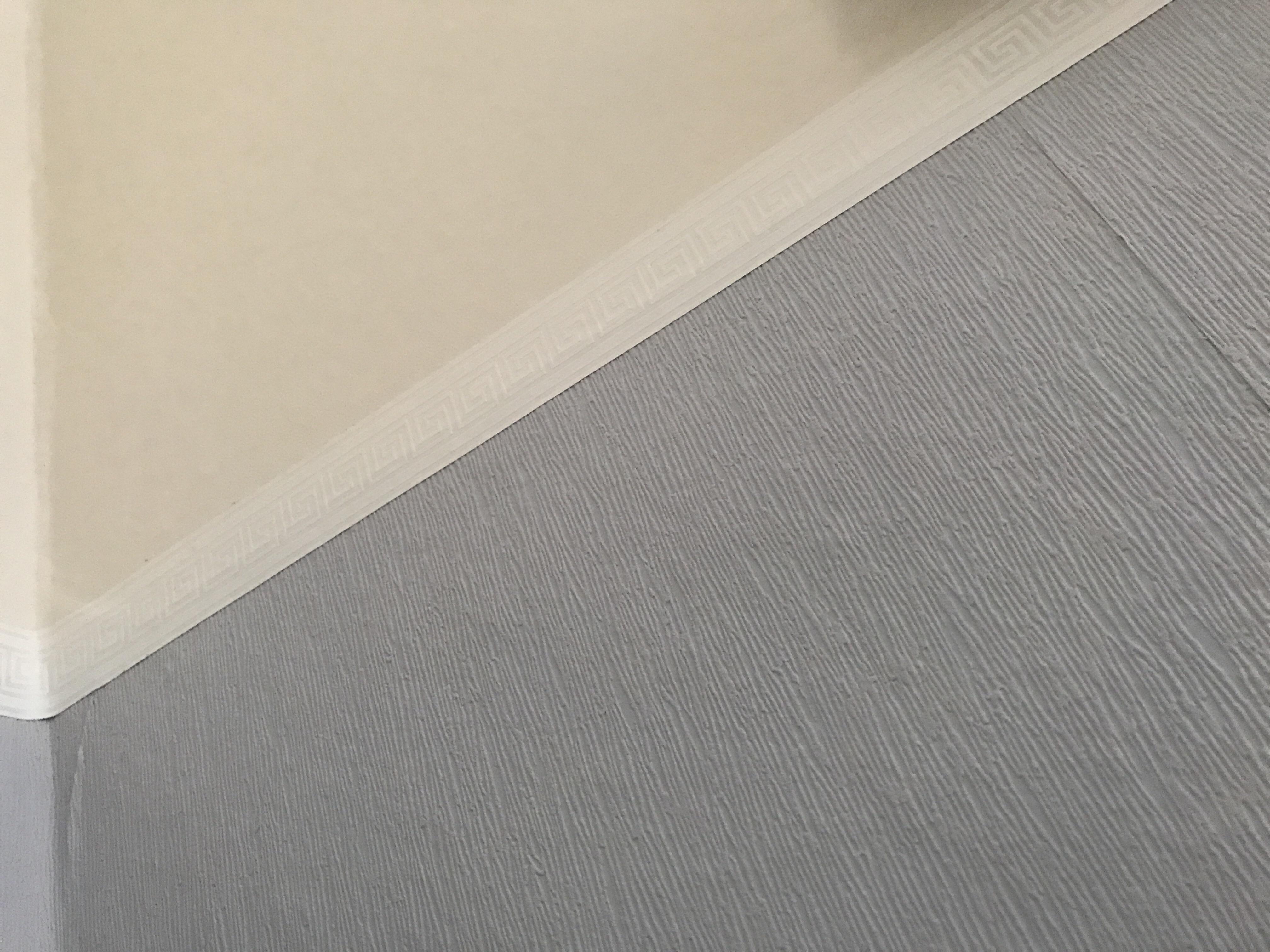 Kann man weiße Wandfarbe über diese Papier Tapete streichen ohne ...