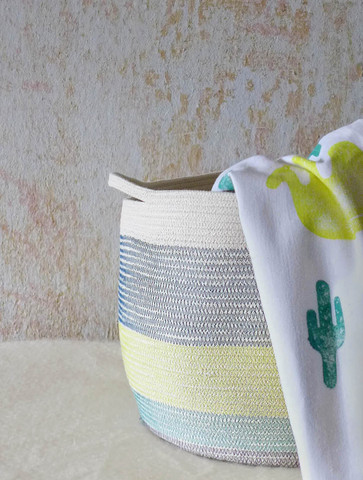 Kann mann aus Seil einen Wäschekorb machen?