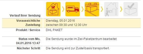 .... - (Paket, DHL, heute)