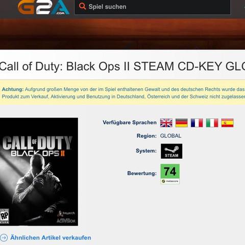 Das Bild. - (Call of duty, Black Ops 2, G2A)