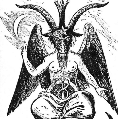 Bekanntes Bild von Luzifer. Mich verwirrt der Stern auf seiner Stirn.  - (Internet, Zeichen, Symbol)