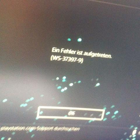 Das ist die entsprechende Fehlermeldung.  - (Computer, Server, PS4)
