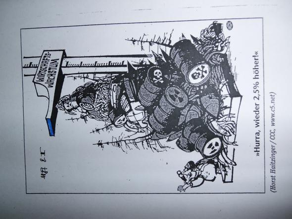 Karikatur Wirtschaftwachstum - (Schule, Deutschland, Karikatur)