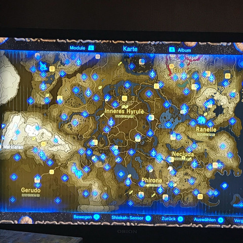 Breath Of The Wild Schreine Karte.Zelda Alle Schreine Karte Karte