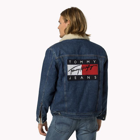 Jeansjacke hilfiger logo