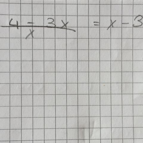 Aufgabe - (Mathe, Bruchgleichungen, Klasse8)