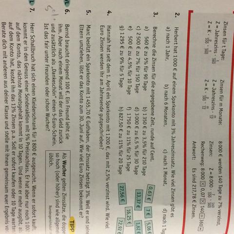Zinsrechnung Hilfe  - (Mathe, Mathematik, Wissen)