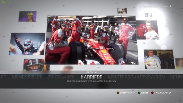 F1 Screen im Titelbild (Sprachsteuerung deaktiviert) - (PC, Formel 1, F1 2016 )