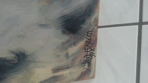 und so schreib sich der künstler - (Kunst, Maler)