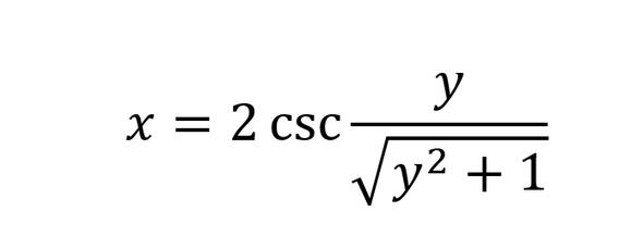 arcsin statt csc - (Studium, Mathematik, Physik)