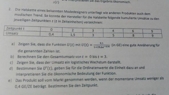 Aufgabe - (Schule, Mathe, differentialrechnung)