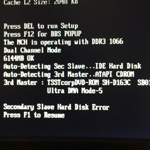 Hier ist die Fehlermeldung  - (Computer, PC, Bios)