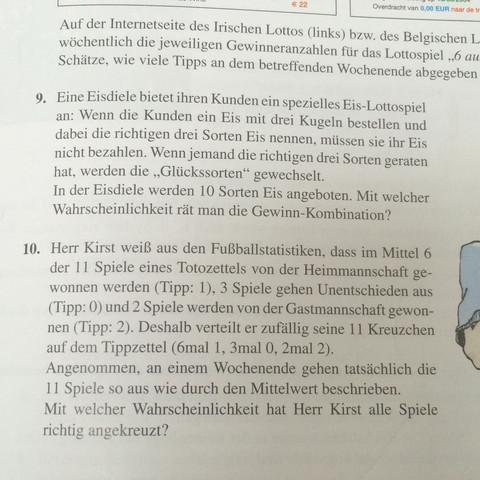 Aufgabe 9  - (Mathe, Mathematik, Kombinatorik)